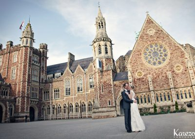Claire and Sam were married in the Clifton College Chapel