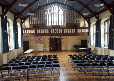 The Pre Hall set up for concert