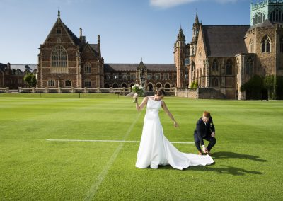 Bristol wedding shoot in Clifton College. Beata Cosgrove Photography